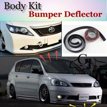 For TOYOTA Ipsum Picnic SportsVan Avensis Verso Front Bumper Lip Spoiler Scratch Proof Adhesive Body Kit