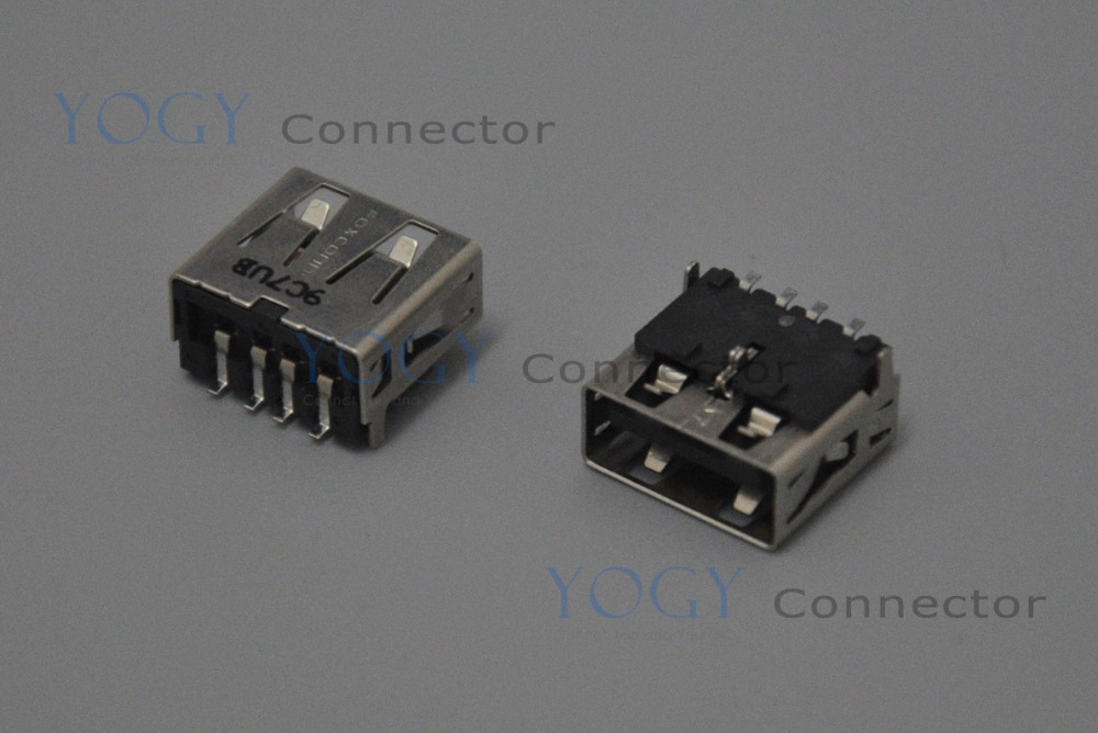 10pcs 12mm Female USB Jack Connector Socket, Commonly used in HP DELL ASUS LENOVO, and other laptop motherboard usb board