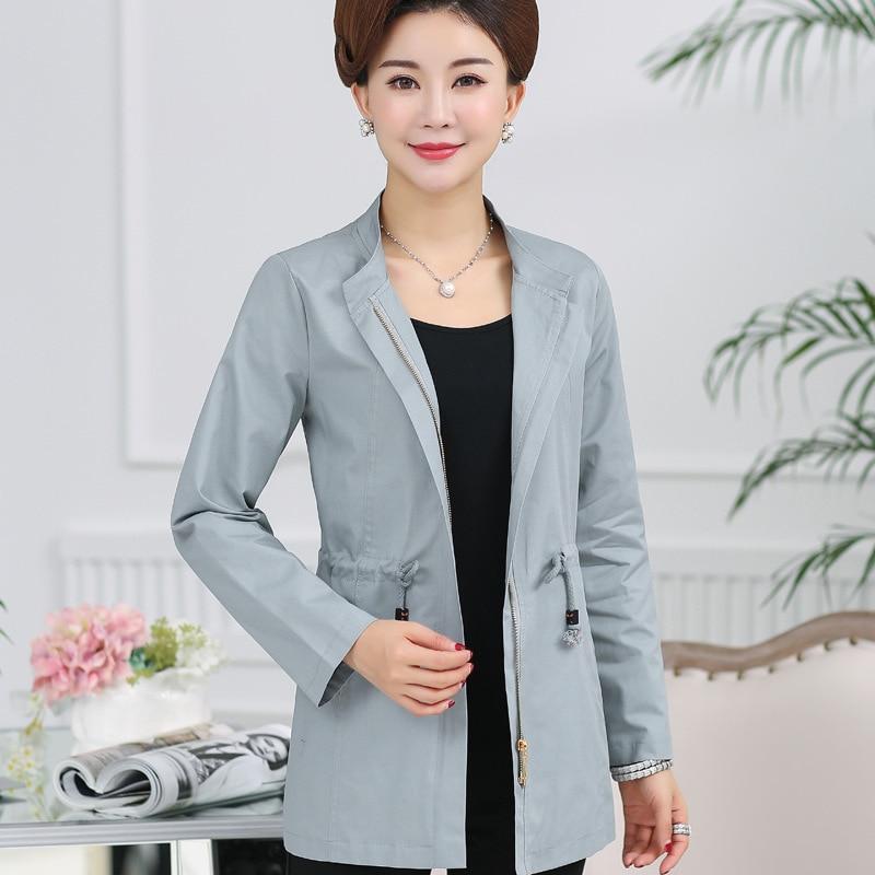 Jacket Al225 4 2017 Coat Women's 2 aged New Windbreaker Autumn 3 Size Cotton 1 Middle Large qfwPCI