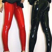 Женские сексуальные черные леггинсы из ПВХ размера плюс, размер M, L, XL, 2XL