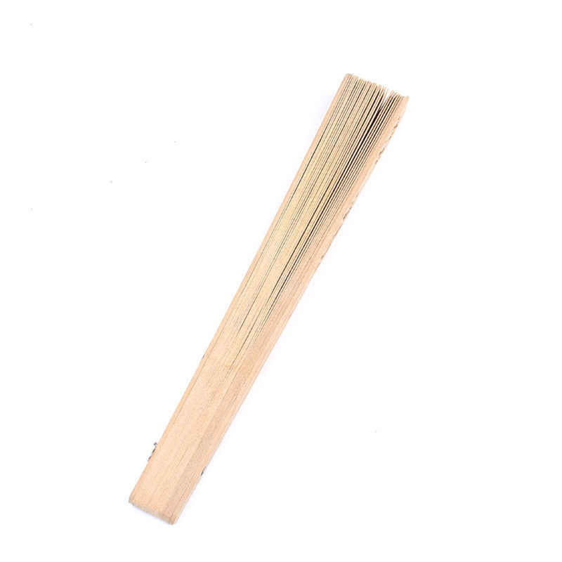 Ventilador de madera de bambú aromático de 20 cm, accesorio de verano, abanico de mano tallado de arte plegable, suministros para fiestas y eventos