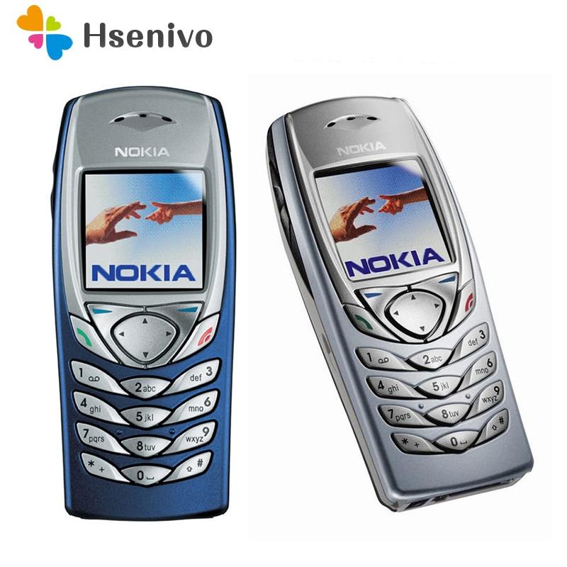 Original nokia 6100 celular celular desbloqueado gsm triband remodelado 6100 celular barato telefone remodelado
