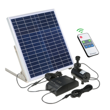Solar Power Fountain 15W Solar Panel+3.6W Brushless Water Pump Kit with Storage Battery Remote Control for Garden Pond Bird Bath все цены