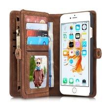 CaseMe Luxury Brand Флип Кожаный Чехол Wallet Коке Fundas Capinha Случае для Apple iPhone 6 6 S 7 Плюс Чехол Для iPhone6 Плюс 7 случае