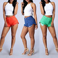 New 2017 Fashion High Waisted Denim Shorts Summer Vintage Ripped Short Jeans Sexy Womens Short Femme Skinny Short Pants Tassel