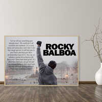 Rocky Balboa Boxing Bodybuilding Print Posters Motivational Black and White Wall Art Canvas Painting Bedroom Decoration Picture
