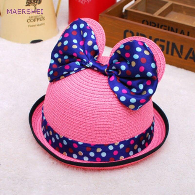 MAERSHEI Summer children's straw hat girl Mic sunscreen sun hat mother and daughter leisure travel sun hat