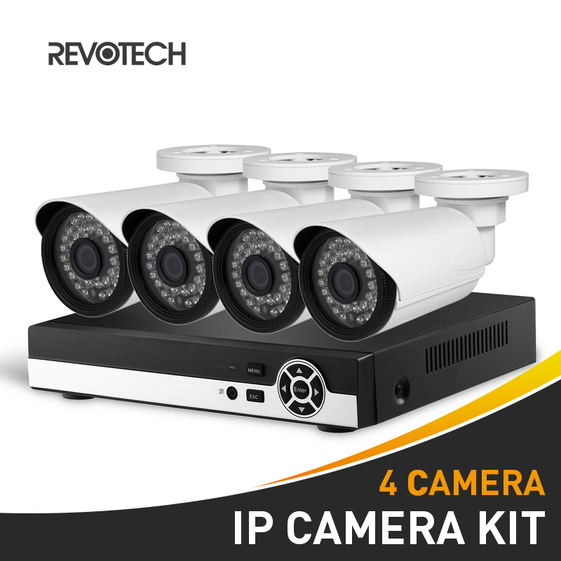 4CH CCTV IP 1080P Camera System Kit HD 8 Channel NVR 4PCS Waterproof 1920x1080P 2 0MP