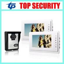 IP64 impermeable versión nocturna del IR 420 TVL cámara de 7 pulgadas de vídeo puerta sistema de teléfono con cable video de la puerta de intercomunicación de vídeo timbre de la puerta de control