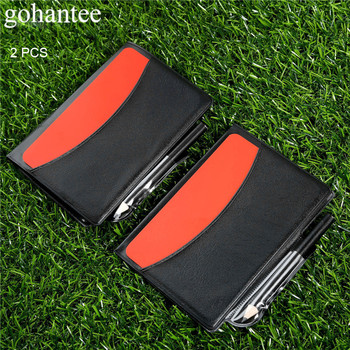 gohantee 2ps Soccer Accessories Football Match Referee Notebook with Red Card Yellow Card and Pencil for Soccer Matches Referees недорого