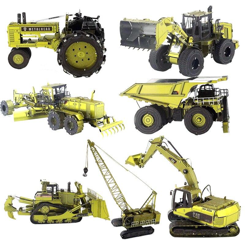 3D de Metal modelo gato excavadora/minería CAT/camión/gato cargadora de ruedas/gato graduador del MOTOR de adultos colección de juguetes educativos