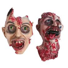 super halloween scary bloody zombie mask melting face adult latex costume walking dead halloween scary face