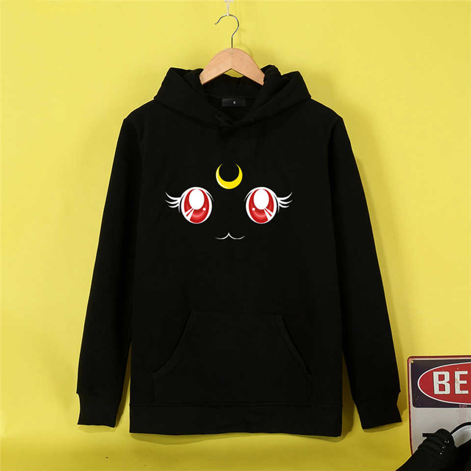 NEW Interesting Sailor Moon Women Hoodies Sweatshirts Long Sleeve Cute Sweatshirt Fashion Leisure Comfortable Hipster Hoodies