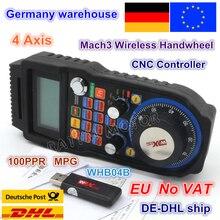 UE liberi la nave IVA 4 Axis Senza Fili Mach3 MPG Ciondolo mpg tornio Volante Di Comando E Chiusura per CNC Mac.3, 4 assi/6 Assi Prezzo Allingrosso WHB04B