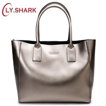 цена на LY.SHARK female bag ladies genuine leather women bag shoulder messenger bag women handbag big famous brand designer fashion tote