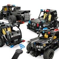 MOULD KING Technic RC Car City Police Auldey Car Building Blocks hi tech Motor Power Remote Control Switch Enlighten DIY Bricks