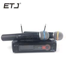 ETJ Marca SLX242 Performance de Palco Profissional Microfone Sem Fio SLX24 2 Transmissor Handheld Sistema de Microfone Sem Fio