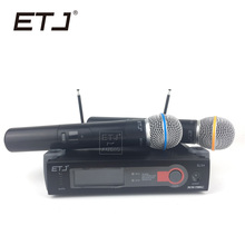 ETJ Model SLX242 Skilled Wi-fi Microphone 2 Transmitter Handheld Stage Efficiency Wi-fi Microphone System