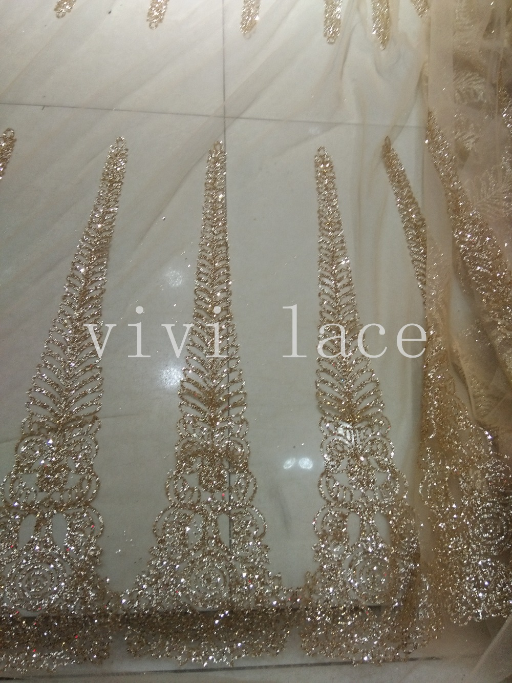 F179 Champagne No 64 Glued Glitter Sparkle African India
