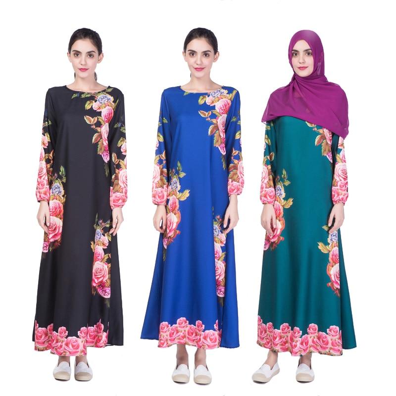 da547978c5 New Abaya Muslim Women long Dress Islamic Digital Printed Clothing jilbabs  and abayas Turkish Robe Musulmane Dresses Vestidos