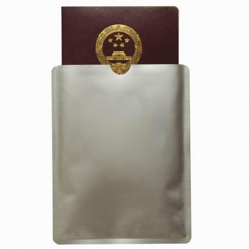 Free shipping 1000pcs blank RFID blocking sleeve for passport Protector RFID passport Aluminum Sleeve