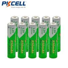 10 Uds * batería PKCELL AAA pre cargada NIMH 1,2 V 850mAh Ni MH 3A Ciclo de baterías recargables 1200 veces