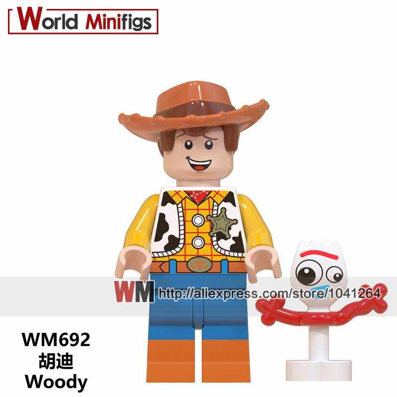 Gaby baby Buttercup Toy Story 4 forky Duke caboon  Bo peep E.T Hugging Dragon Buzz Lightyear Building Blocks Toy for kids