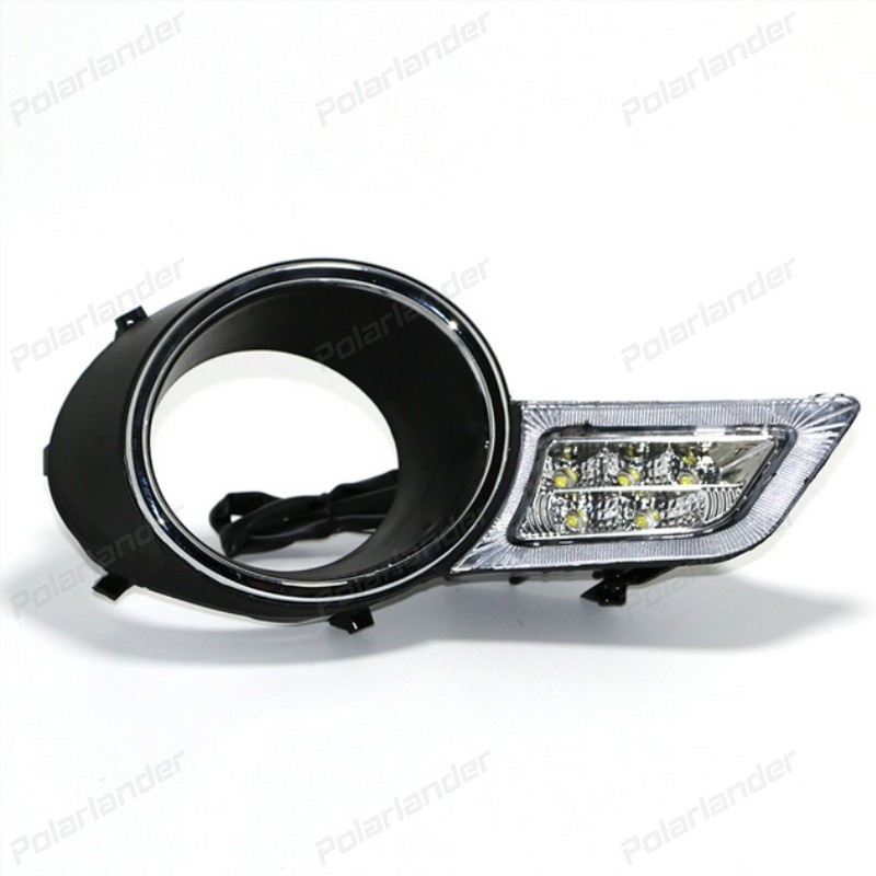 2 pcs Car accessory auto led Daytime Running Lights DRL Front Fog Lamp for T/oyota H/ighlander 2009-2011 car-styling