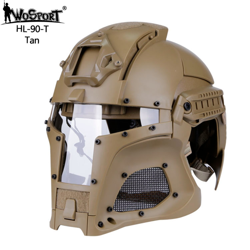 54-64 cm Sports de Plein Air Armée Combat Airsoft Paintball Airsoft Tactique Casque Intégral-couvert Chasse Tir Sports de Plein Air casque