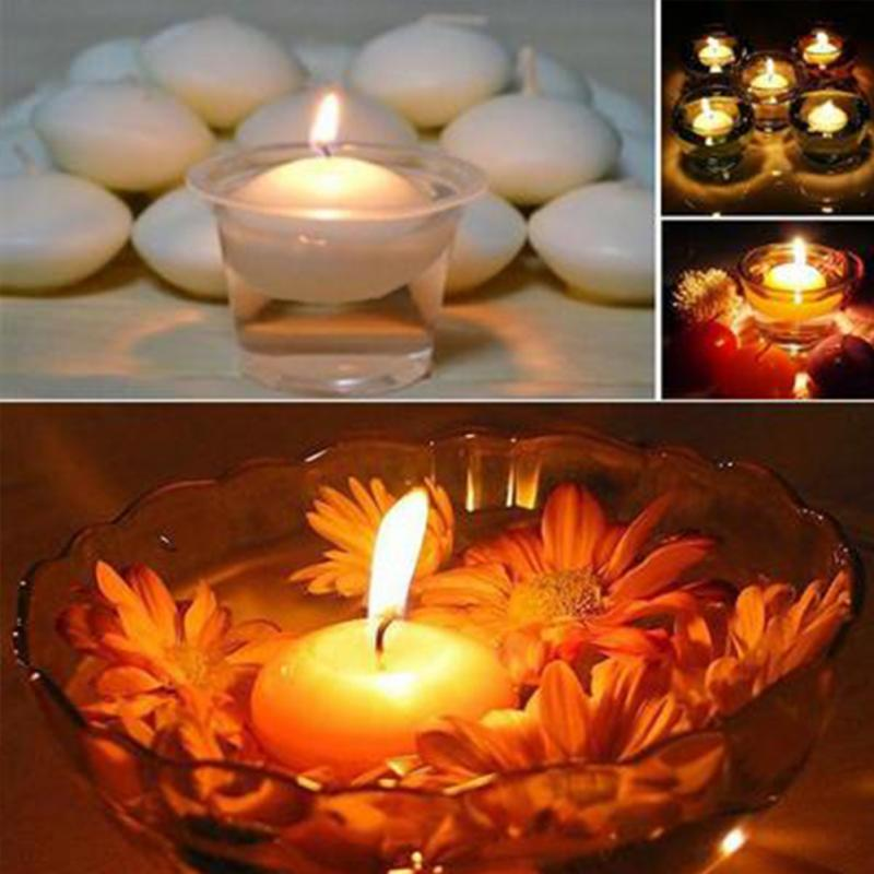 10pcs Round Water Floating Centerpiece Candles Romantic Wedding Party Decoration