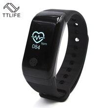 TTLIFE X7 Bluetooth Монитор Сердечного Ритма Смарт часы Сенсорный экран фитнес-браслеты Водонепроницаемый Пульт дистанционного Управления браслет