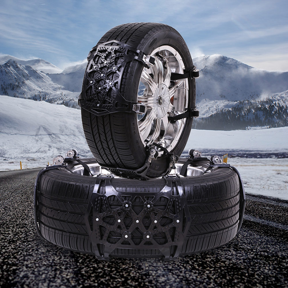 Voiture Auto anti-dérapant chaînes en acier voiture dérapage ceinture neige boue sable pneu Clip-on chaîne 6 pièces réalisable pour 165-275mm largeur de pneu