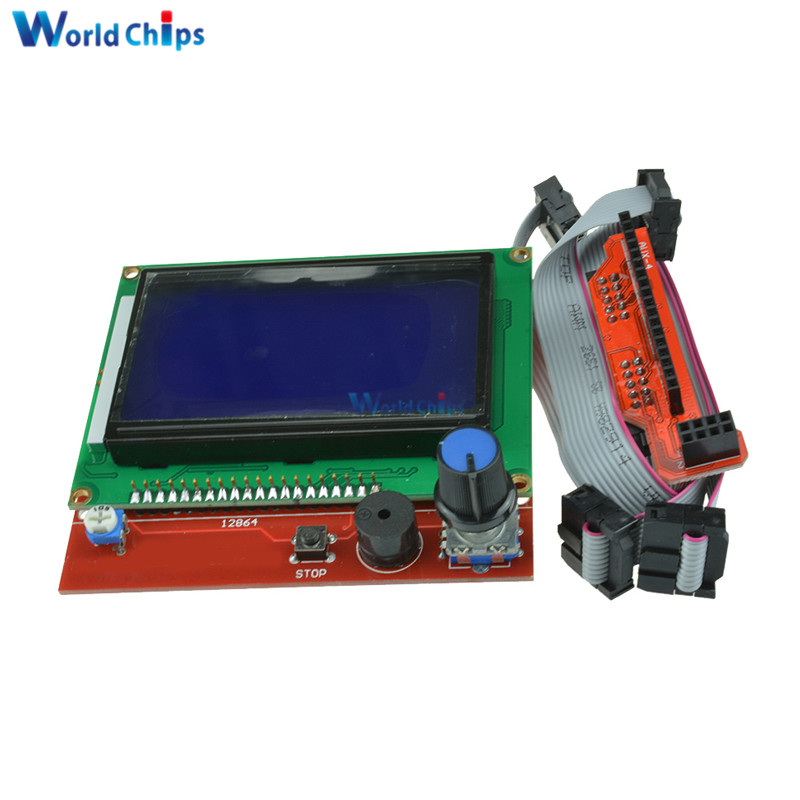 Smart Parts RAMPS 1.4 Controller Control Panel LCD 12864 Display Monitor Motherboard Blue Screen Module For Arduino 3D Printer