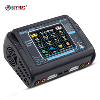 HTRC T240 DUO AC 150W DC 240W Touch Screen Dual Balance Charger Discharger For RC Battery