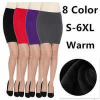 2019 automne hiver femmes jupes bureau formel crayon jupes décontracté Sexy Slim taille haute avertissement jupes, grande taille M-6XL