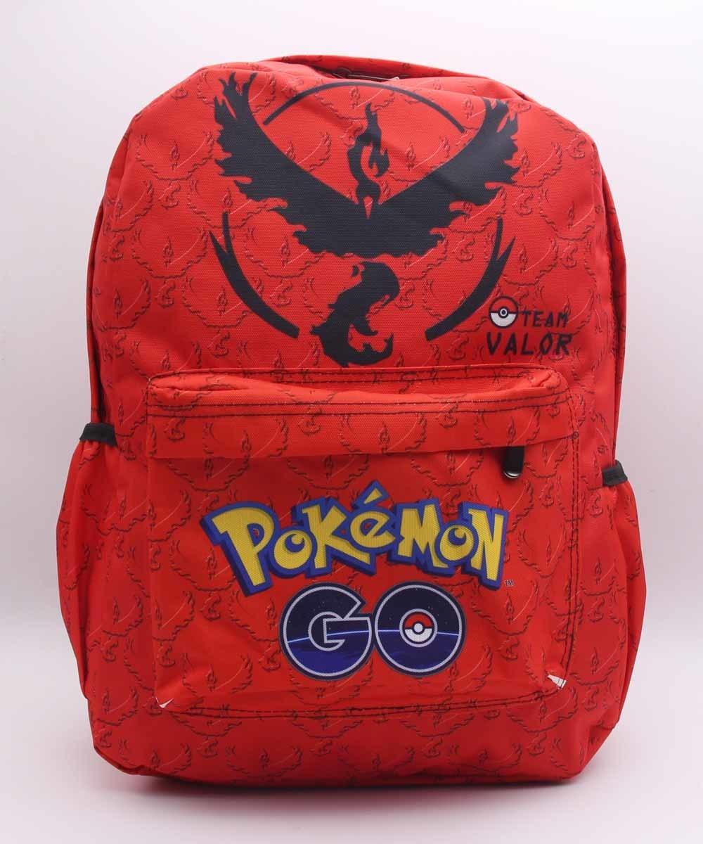 GAME Pokemon GO  Team Valor Moltres Laptop Backpack Shoulder School Bag Unisex School Bag Travel Backpacks 14 Style