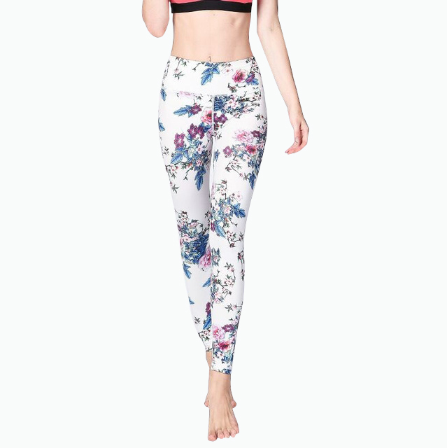 Floral Printed Sports Yoga Legging Womens Fitness Leggins Pants Workout Gym Jogging Jersey Trainer Trousers Compression Tights