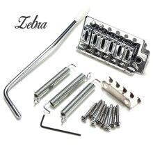 1 Set of Chrome 6 Strings Electric guitar Tremolo Bridge for Strat including Claw+3 Springs+8 Screws+Tremolo bar
