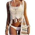 Mulheres Sling Bikini Outwear 2017 Mulheres Sexy Tops de Culturas Fora Do passeio Oco Franjada Vest Tops Praia Casual #5