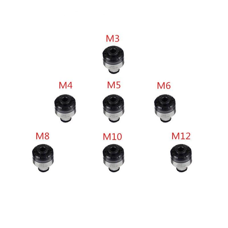 7 pc Couple Protection Mandrins M3/M4/M5/M6/M8/M10/M12 pour Auto -de verrouillage Pneumatique Tapping Machine