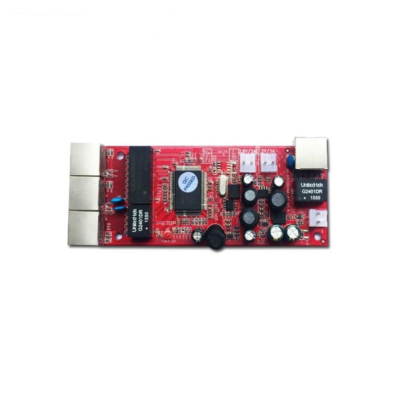 10/100/1000Mbps OEM/ODM ieee802.3af oem 4 port ethernet switch module network switch poe switch network switch 1000mbps faq for oem odm