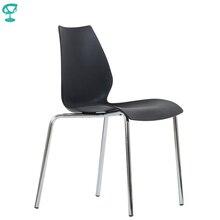 95462 Barneo N-234 кухонный стул пластиковый стул черный ножки хром стул для улицы мебель для кафе стул для кафе стул пластик металлические ножки хромированные в Казахстан мебель по России