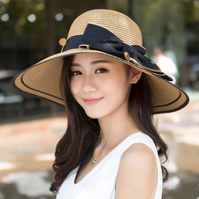 b8c5a1ad98a Outdoor Folding Hat Female Korean Summer Tide Along Ms. Sun Hat Sun Cap  Summer Beach