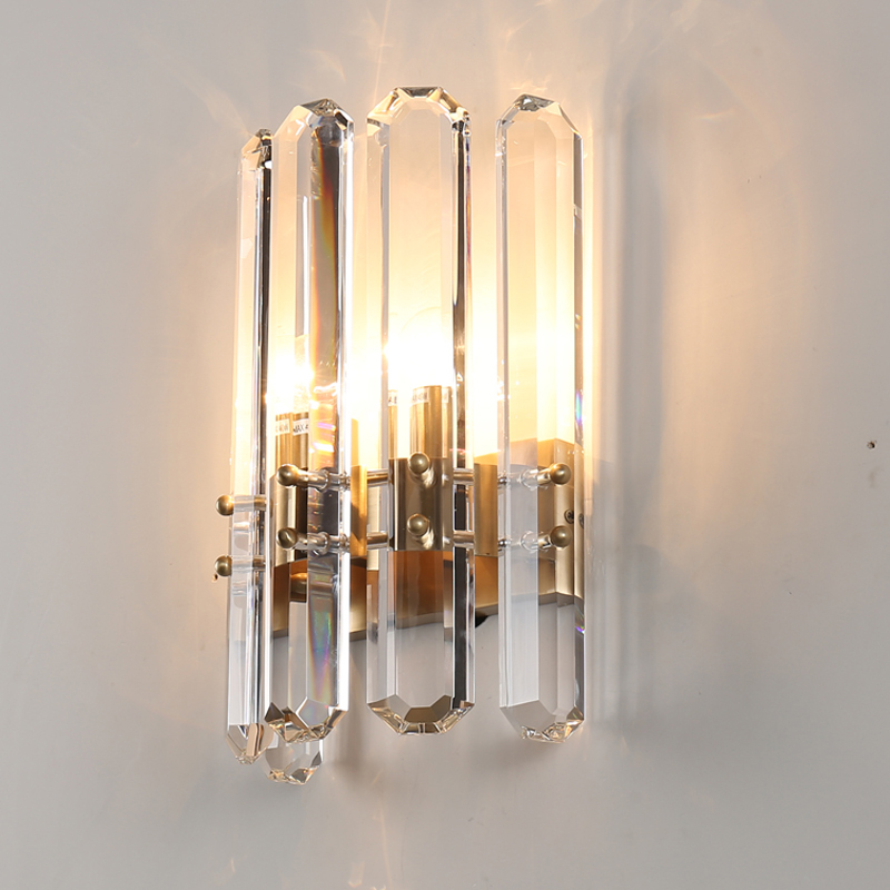 new modern crystal wall lights lustre wandlampen AC110V 220v gold wall lamp for bedroom living room lighting кондиционер kerasys для волос восстанавливающий сменная упаковка 500 мл