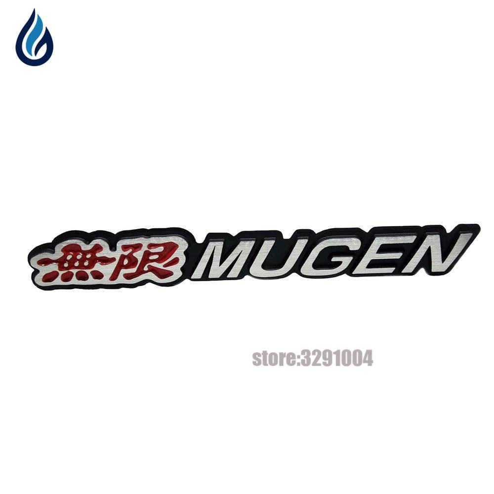 Auto Car Aluminum MUGEN Car Sticker Emblem Chrome Logo Rear Badge For HONDA Civic Accord S2000 CR-V Fit Vezel City Car-Styling auto chrome camaro letters for 1968 1969 camaro emblem badge sticker