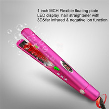 Promo offer Ions Straightening Irons Temperature Ajustable Styling Tools LED Professional Hair Straightener Rapid Heating