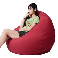 Lazy Bean Bag Sofas Living Room Lounger Sofas Bedroom Relax Bean Bag Sofas Reading Bean Bag Chairs Living Room Furniture S/M/L