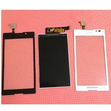 100% garantieren arbeits lcd display + touchscreen digitizer für sony xperia c s39h s39 c2304 c2305 telefon panel sensor ersatz