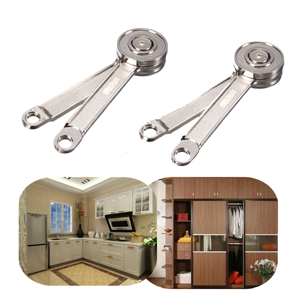 2pcslot adjustable stays support toy box hinges lift up tool for kitchen cupboard cabinet door