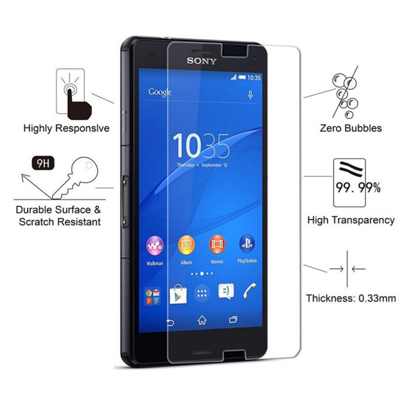 Image 2 - 2PCS = Front + Back Screen Protector Explosion Proof Premium Tempered Glass Film for Sony Xperia Z M4 M5 Z4 Z5 Z2 Z3 Compact-in Phone Screen Protectors from Cellphones & Telecommunications
